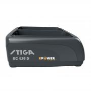 Akumuliatoriaus įkroviklis Stiga EC 415 D (dvigubas)