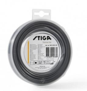 Pjovimo gija Stiga (2,4mm/15m, juoda, kampuota)