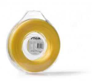 Pjovimo gija Stiga (2,4mm/90m, geltona, apvali)