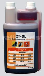 Alyva Ratioparts 2T varikliams, 1L (su dozatoriumi)