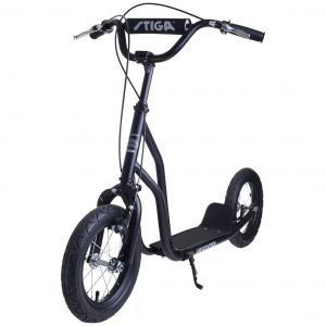 """Paspirtukas Stiga Air Scooter 12"""" (juodas)(Akcija -20%, kaina nurodyta su nuolaida)"""