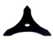 Trijų dantų metalinis krūmapjovės peilis